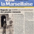 Article - La Marseillaise - exhibition Ethnocolor - rozenn leboucher