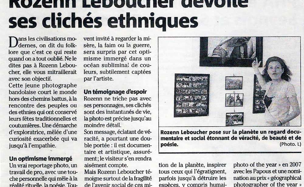 Article Var Matin sur l'exposition Ethnocolor