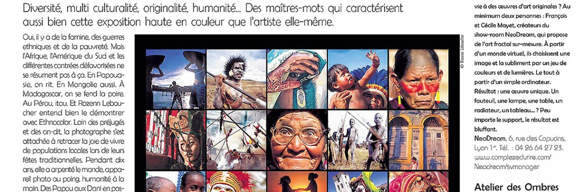 article - a nous lyon - Exhibition Ethnocolor - Rozenn Leboucher