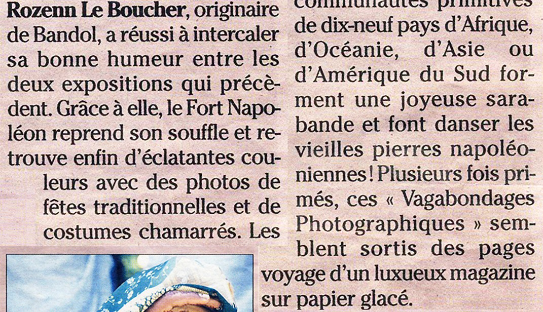 Article Nice Matin - Exposition Ethnocolor - Rozenn Leboucher