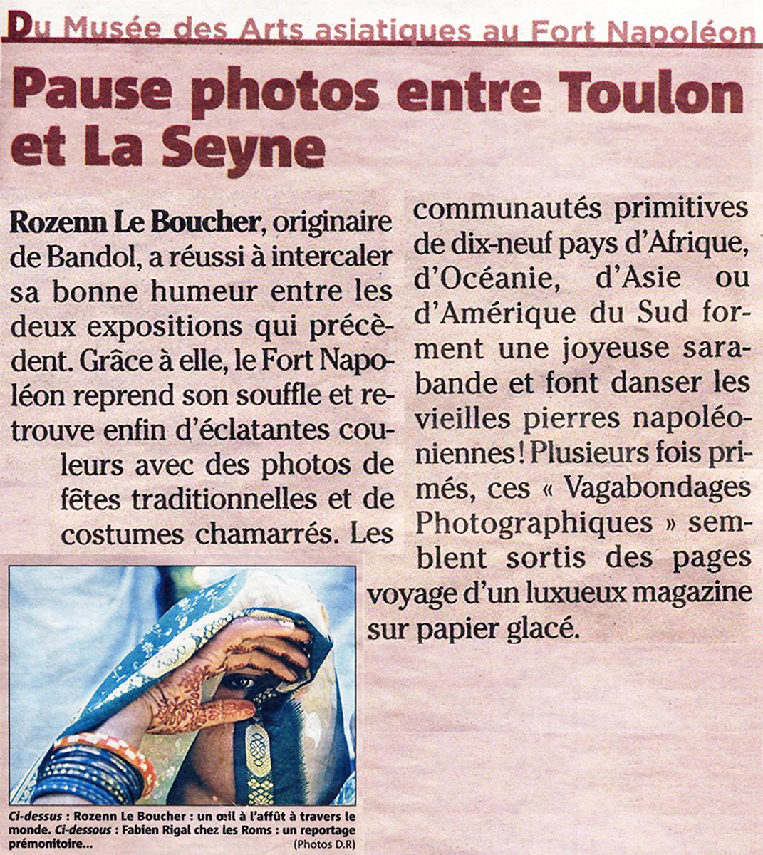 Article Nice Matin - Exposition Ethnocolor - Rozenn Leboucher
