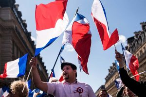 Walk of the Front National in Paris