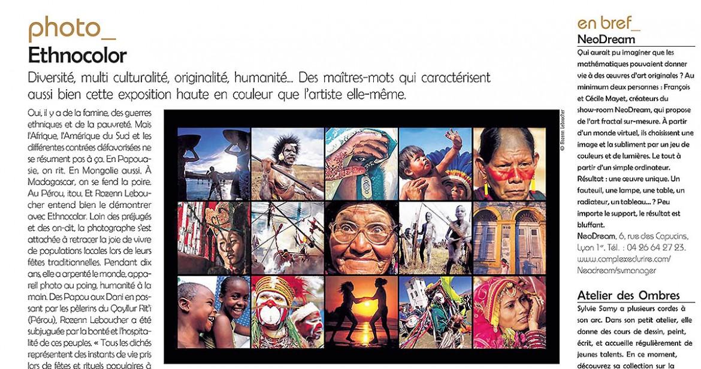 article - a nous lyon - Exhibition Ethnocolor - Rozenn Leboucher